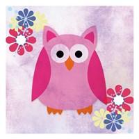 Retro Owl 1 Fine Art Print