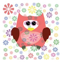 Owls and Flowers Fine Art Print