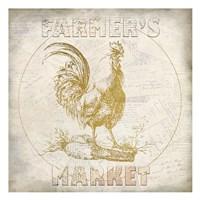 Golden Farmers Market Fine Art Print