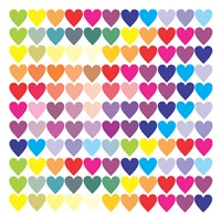 Groovy Love Pattern 2 Fine Art Print