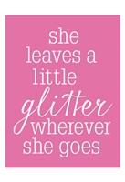She Glitter PINK Fine Art Print