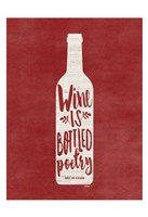 Bottled Wine Fine Art Print