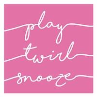 Play Twirl Snooze PINK Fine Art Print