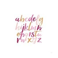 Girl Lower Letters Fine Art Print