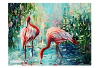 Flamingo's Delight 1 Fine Art Print