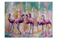 Flamingo Rondevu 1 Fine Art Print