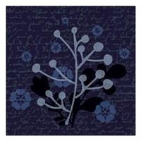 Indigo Olive Branch Fine Art Print