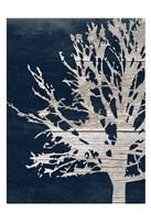 Contemporary Garden Indigo Fine Art Print