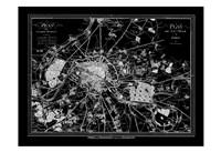 Paris Map 2 BW Fine Art Print