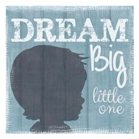 Dream Big Little One Boy Fine Art Print