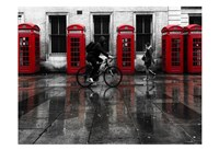 London Phone Booths People Fine Art Print