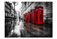 London Phone Booths Framed Print