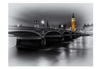 London Selective Bridge and Big Ben Fine Art Print