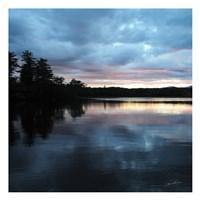 Sunset Lake Pink 1 Fine Art Print