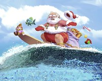 Santa's Vacation Fine Art Print