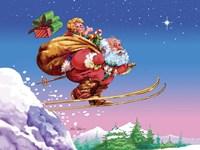 Santa Ski Fine Art Print