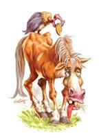 Get Well Old Horse Fine Art Print