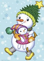 Snow Girl with a Doll Fine Art Print