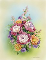 Bouquet with Peonies Fine Art Print