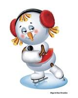 Snowgirl Figure Skater Fine Art Print