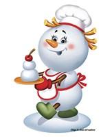 Snowman Cook Fine Art Print