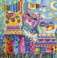 Deco Cats Fine Art Print