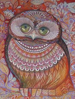 Gold Honew Owl Fine Art Print