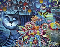 Indigo Cat Fine Art Print