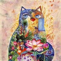 Lotus Cat Fine Art Print
