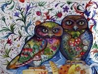 Middle Ages Owls Fine Art Print