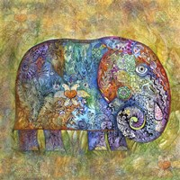 Runes Elephant Fine Art Print