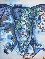 Blue Elephant Fine Art Print