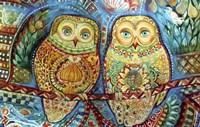 Byzantine Owls Fine Art Print