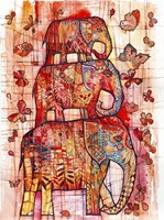 Three Elephants Fine Art Print