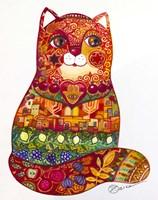 Judaica Folk Cat Fine Art Print