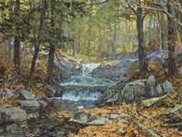 Glen Creek Waterfalls Fine Art Print