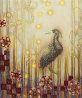 Wonderous Evening Heron Fine Art Print