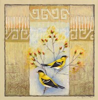 Summer Goldfinches Fine Art Print