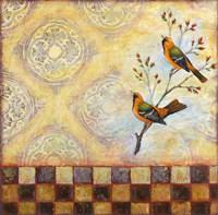 Birds and Tiles Fine Art Print