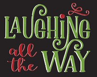 Laughing All the Way Framed Print