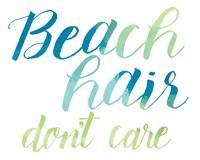 Beach Hair Fine Art Print
