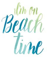 Beach time Fine Art Print