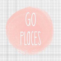 Go Places - Blush Pink Fine Art Print
