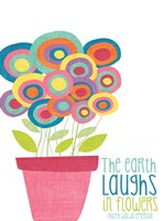 Laughs in Flowers Fine Art Print