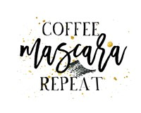 Coffee Mascara Repeat Fine Art Print