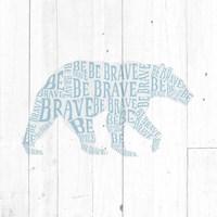 Bear Shiplap Framed Print