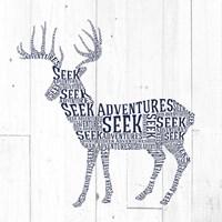 Deer Shiplap Framed Print