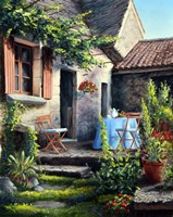 Tea on the Terrace Fine Art Print