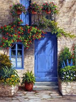 Provence Blue Door Framed Print