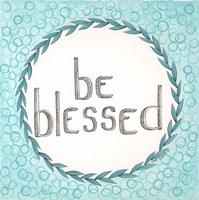 Be Blessed Swirls Fine Art Print
